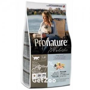 Pronature Holistic Сухой корм с лососем и коричневым рисом для кошек