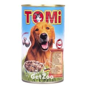 TOMi (ТОМи) Консерва 5 ВИДОВ МЯСА для собак, 1,2 кг