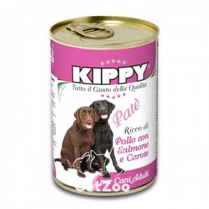 Kippy Киппи Курица, лосось и морковь паштет для собак, 400 г