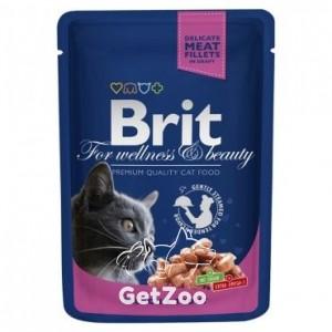 Brit Premium Кусочки с лососем и форелью для кошек