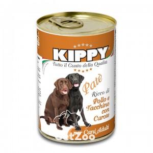 Kippy Киппи Курица, индейка и морковь паштет для собак, 400 г