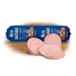 Brit Premium Dog Sausage TURKEY колбаса с индейкой для пожилых собак и собак с избыточным весом, 800 г