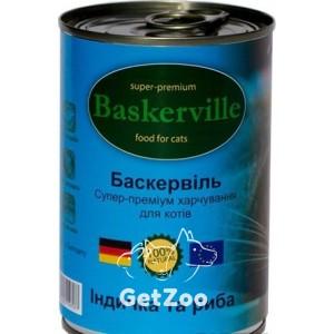 Baskerville Индейка с рыбой консервы для кошек