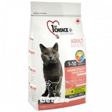 1st Choice Indoor Vitality Adult Сухой корм с курицей для домашних кошек всех пород