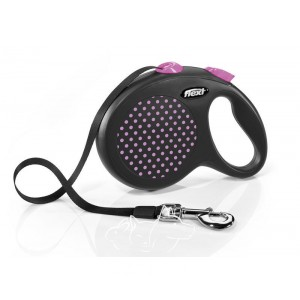 Flexi Design L Tape Поводок-рулетка для собак до 50 кг, лента, 5 метров