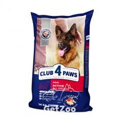Клуб 4 лапы Premium Актив Сухой корм для активных собак, 14 кг