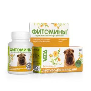 Veda (Веда) ФИТОМИНЫ® с противоаллергическим фитокомплексом для собак, 100 табл.