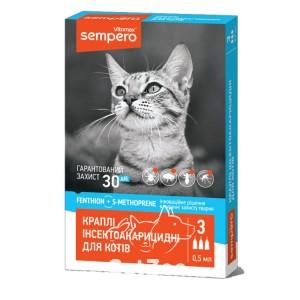 Vitamax (Витамакс) КаплиSempero от эктопаразитов для кошек, 1 пипетка