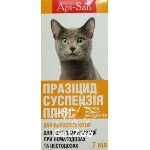 Празицид суспензия Плюс против глистов для кошек