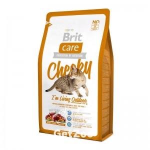 Brit Care Cat CHEEKY I am Living Outdoor Сухой корм с олениной для активных кошек