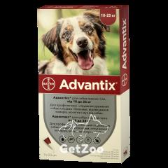 Advantix Адвантикс Капли от блох и клещей для собак от 10 кг до 25 кг