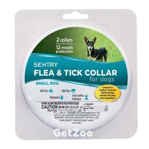 SENTRY SMALL Ошейник от блох и клещей для собак малых пород, 6 месяцев защиты, 36 см, 2 шт.