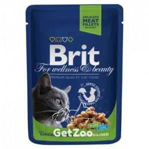 Brit Premium Курица в соусе для кастрированных котов и стерилизованных кошек, 100 г