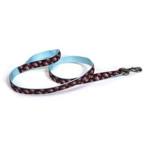 Coastal Pet Attire Ribbon поводок для собак, 1,6 см х 1,2 м, расцветка красный с лапками