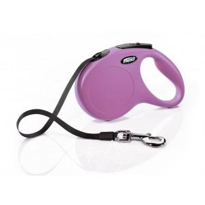 Flexi New Classic L поводок-рулетка для собак весом до 50 кг, лента, 5 метров
