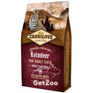 Carnilove Сухой беззерновой корм с олениной для активных кошек