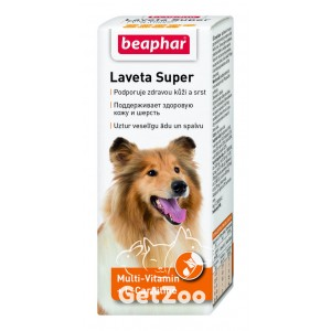 Beaphar Laveta Super Жидкая кормовая добавка для кожи и шерсти собак, 50 мл