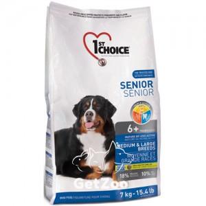 1st Choice Senior Сухой корм для пожилых или малоактивных собак средних и крупных пород