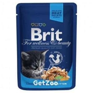 Brit Premium Кусочки с курицей консервы для котят