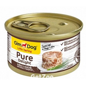 GimDogLittle Darling Pure Delight Курица и говядина консервы для собак