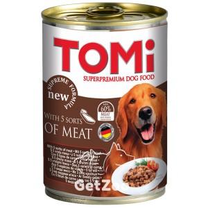 TOMi 5 видов мяса консервы для собак