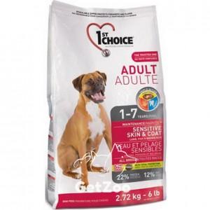 1st Choice Sensitive Skin&Coat Adult Lamb&Fish Cухой корм с ягненком и океанической рыбой для собак с чувствительной кожей и шерстью