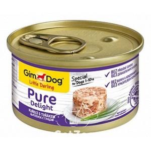 GimdogLittle Darling Pure Delight Курица и тунец консервы для собак