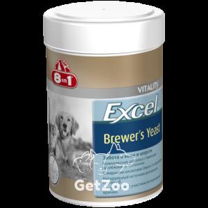 8in1 Excel Brewers Yeast Пивные дрожжи с чесноком для собак и кошек
