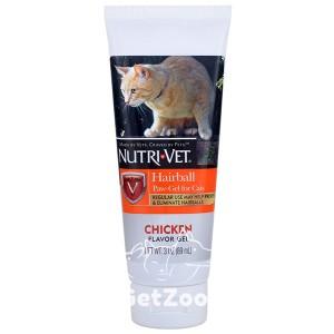 Nutri-Vet Hairball Гель с курицей для вывода шерсти из желудка для кошек, 89 мл