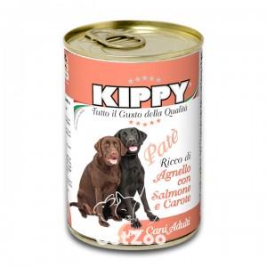 Kippy Киппи Ягненок, лосось и морковь паштет для собак, 400 г