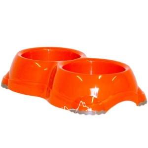 Moderna МОДЕРНА СМАРТИ №1 двойная миска для собак и кошек, пластик, 2х330 мл, d-11 см, цвет в ассортименте