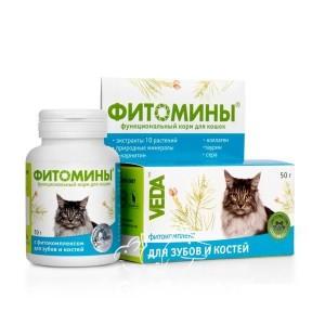 Veda (Веда) Фитомины Для зубов и костей кошек, 100 шт
