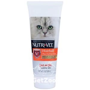 Nutri-Vet Hairball Гель с лососем для вывода шерсти из желудка для кошек, 89 мл