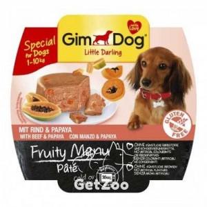 GimDog Говядина и папайя консервы для собак