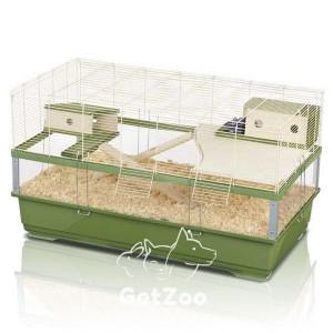 Imac Plexi 100 Wood Клетка для крыс, песчанок и других грызунов, 100х54,5х55,5 см