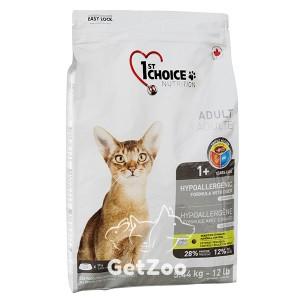 1st Choice Hypoallergenic Adult Сухой гипоаллергенный корм с уткой и картофелем для кошек