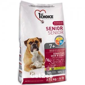 1st Choice Senior Сухой корм с ягненком и рыбой для пожилых или малоактивных собак