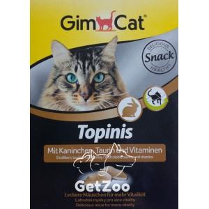 GimCat Витаминные мышки Topinis с кроликом и таурином, 180 шт.