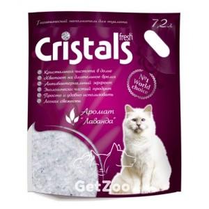 Cristals fresh силикагелевый наполнитель с лавандой 7,2 л